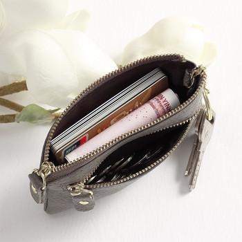 Γυναικείο πορτοφόλι casual με φερμουάρ σε διάφορα χρώματα