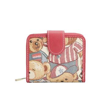 Γυναικείο πορτοφόλι με χρωματιστώ τύπομα  σε τέσσερα χρώματα