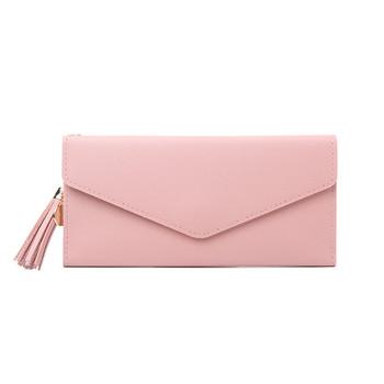 Νέο γυναικείο πορτοφόλι με φούντα από οικολογικό δέρμα