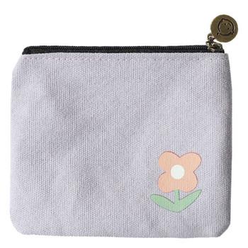 Μικρό υφασμάτινο πορτοφόλι με εφαρμογή χρώματος