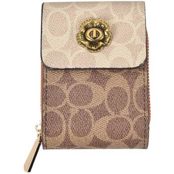 Μοντέρνο γυναικείο πορτοφόλι με φερμουάρ και κούμπωμα