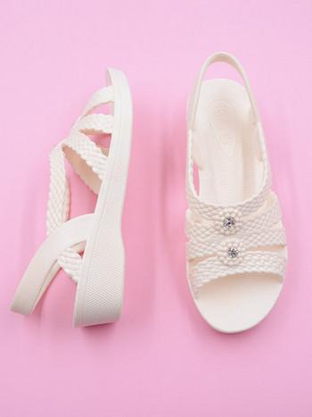 Дамски ежедневни сандали с камъни и каишка
