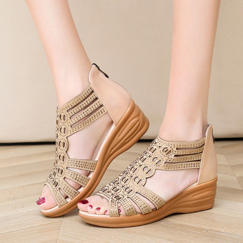 Ежедневни дамски сандали с платформа 5см