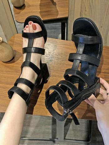 Дамски модерни сандали от еко кожа римски стил
