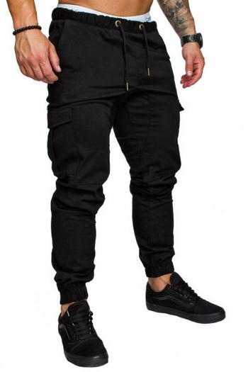 Мъжки ежедневен панталон с връзки и странични джобове