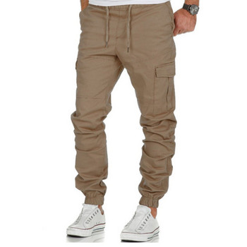 Ανδρικό παντελόνι ίσιο μοντέλο με ελαστικούς δεσμούς και πλαϊνές τσέπες