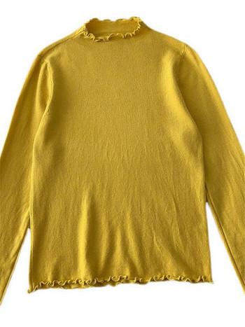 Дамска блуза с дълъг ръкав в шест цвята