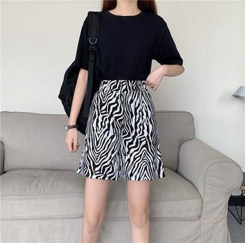 Ежедневни дамски панталони с принт зебра
