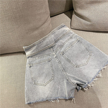 Модерни дънкови панталони със скъсани мотиви в два цвята