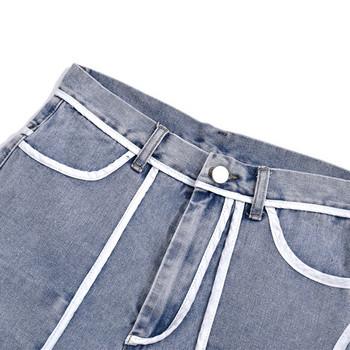 Къси дънки асиметричен модел за жени