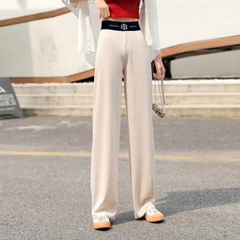 Дамски широк панталон с ластик