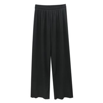 Черен дамски панталон с висока талия и 9/10 дължина