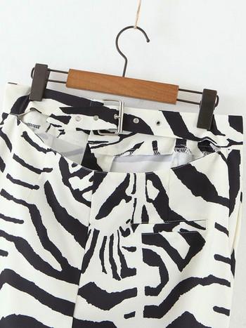 Дамски панталони с шарен десен
