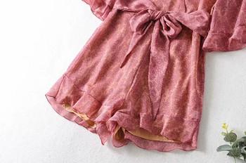 Νέο μοντέλο κοντή  ολόσωμη φόρμα με βαθύ ντεκολτέ