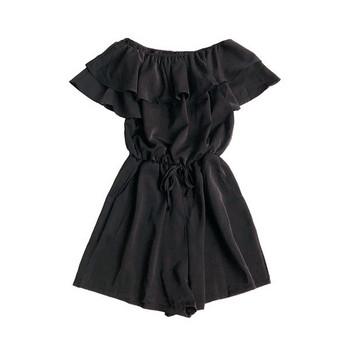 Γυναικεία ολόσωμη φόρμα φαρδύ μοντέλο με κορδόνια