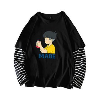 Дамска широка тениска с цветна  апликация в три цвята