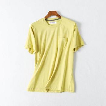 Лятна едноцветна тениска за мъже