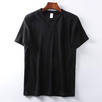 Ежедневна мъжка тениска с къс ръкав - изчистен  модел