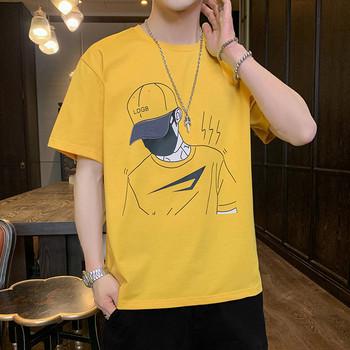 Нов модел мъжка тениска с къс ръкав и щампа