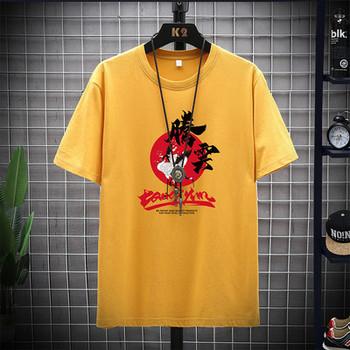 Ежедневна тениска с обло деколте и щампа за мъже