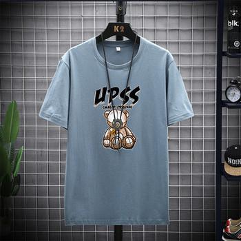 Нов модел тениска с къс ръкав и щампа за мъже