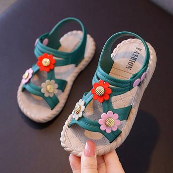 Παιδικά σανδάλια με λουλούδια 3D - για κορίτσια