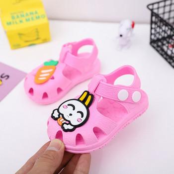 Бебешки сандали с лепенка и 3D елементи