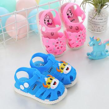 Летни гумени сандали за момчета и момичета - различни модели
