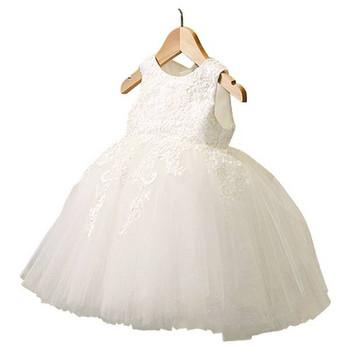 Νέο μοντέλο παιδικό φόρεμα με δαντέλα και τούλι σε διάφορα χρώματα
