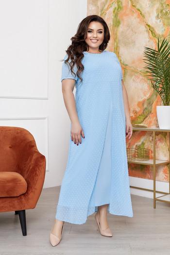 Дълга рокля от шифон
