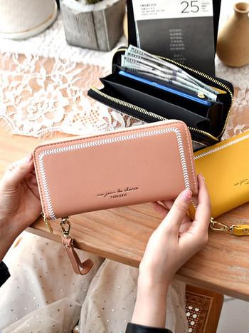 Έκο δερμάτινο γυναικείο πορτοφόλι νέο μοντέλο από οικολογικό δέρμα με φερμουάρ