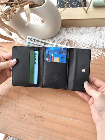 Νέο μοντέλο γυναικείο πορτοφόλι μικρό μοντέλο από οικολογικό δέρμα με τσέπη για κέρματα