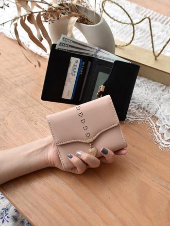 Νέο μοντέλο γυναικείο έκο δερμάτινο πορτοφόλι με τσέπη με κέρματα