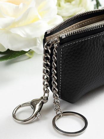 Μικρό έκο δερμάτινο πορτοφόλι για κέρματα με φερμουάρ