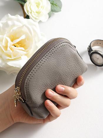 Μικρό έκο δερμάτινο πορτοφόλι με φερμουάρ για κέρματα