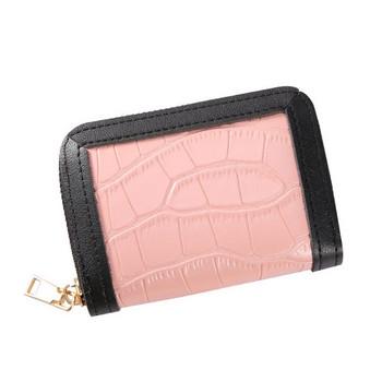 Γυναικείο πορτοφόλι με ανάγλυφο δέρμα και φερμουάρ
