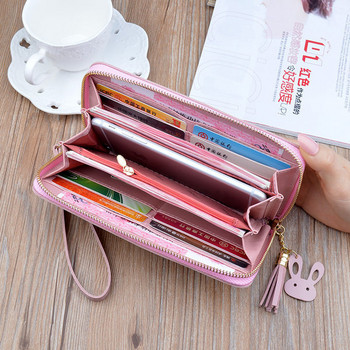 Γυναικείο πορτοφόλι με χρωματιστά κεντήματα