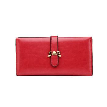 Γυναικείο πορτοφόλι από οικολογικό δέρμα με κούμπωμα