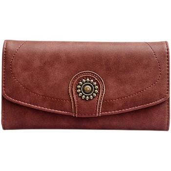 Γυναικείο πορτοφόλι με πολλά διαμερίσματα και μεταλλική διακόσμηση