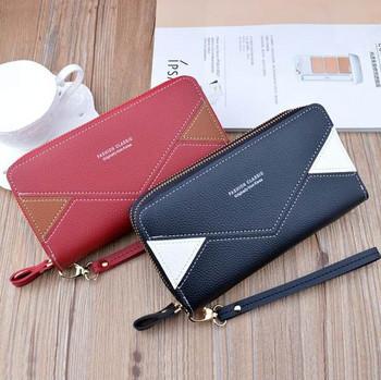 Έκο δερμάτινο γυναικείο πορτοφόλι νέο μοντέλο με δύο θήκες