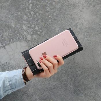 Γυναικείο πορτοφόλι με μεταλλική στερέωση - τρία χρώματα