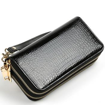Απλό μοντέλο πολυλειτουργικό πορτοφόλι με διπλό φερμουάρ