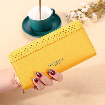 Μεγάλο γυναικείο πορτοφόλι με επιγραφή σε διάφορα χρώματα