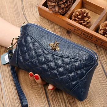 Νέο γυναικείο πορτοφόλι με φερμουάρ και μεταλλική διακόσμηση