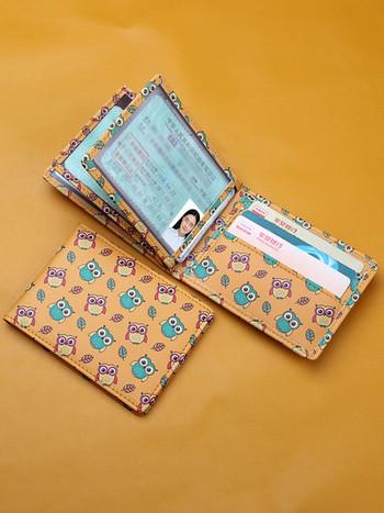 Γυναικείο πορτοφόλι καθημερινό με απλικέ χρώμα