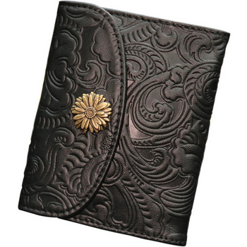 Γυναικείο πορτοφόλι με μεταλλικό στοιχείο και στερέωση