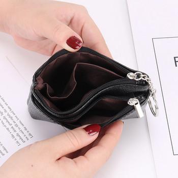 Καθημερινό έκο δερμάτινο πορτοφόλι με φερμουάρ