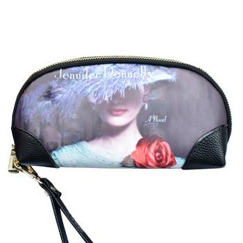 Μοντέρνο γυναικείο πορτοφόλι με απλικέ και λαβή