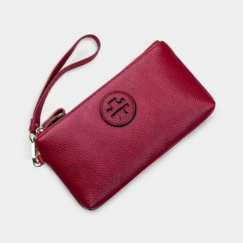 Γυναικείο έκο δερμάτινο πορτοφόλι με φερμουάρ και χειρολαβή