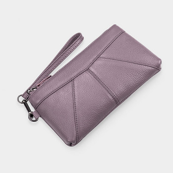 Γυναικείο πορτοφόλι από οικολογικό δέρμα με κοντή λαβή και φερμουάρ